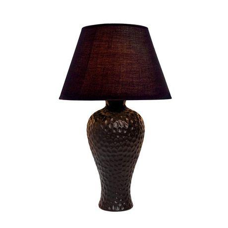 Simple Designs Textured Stucco Curvy Ceramic Table Lamp - image 2 of 3