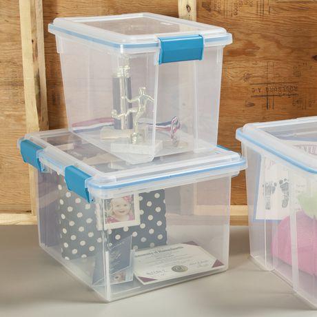 Sterilite 30 Liter Clear Gasket Box - image 2 of 3