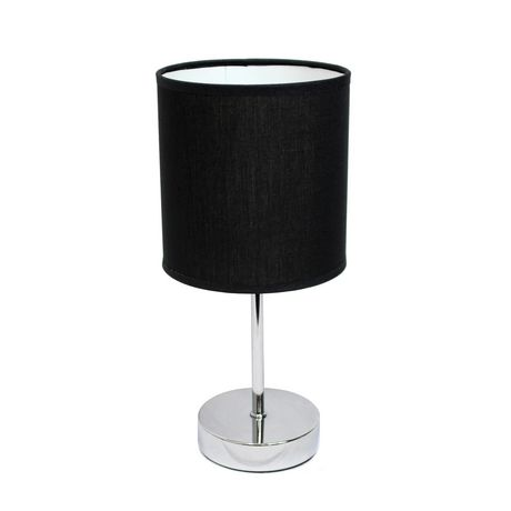 Simple Designs Chrome Mini Basic Table Lamp with Fabric Shade - image 1 of 4