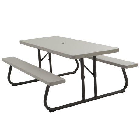 Folding Picnic Table Walmart.Lifetime 6 Picnic Table Putty