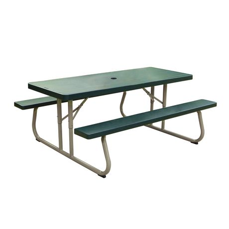 lifetime 6 39 picnic table green. Black Bedroom Furniture Sets. Home Design Ideas