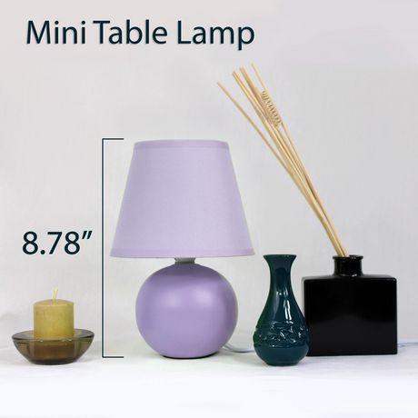 Simple Designs  Mini Ceramic Globe Table Lamp - image 2 of 3