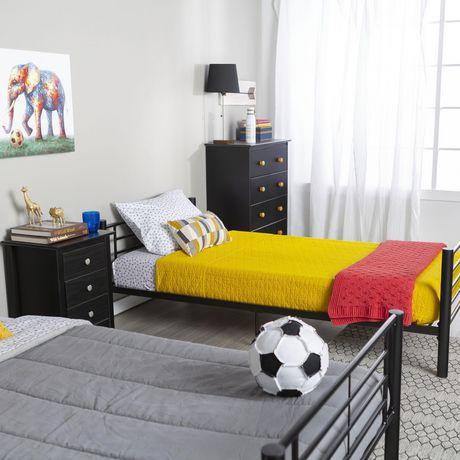 Lits simples superposés WE Furniture en noir - image 3 de 6