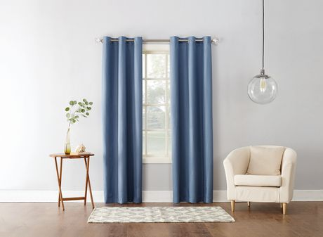 Mainstays Textured Thermal Lined Grommet Curtain Panel