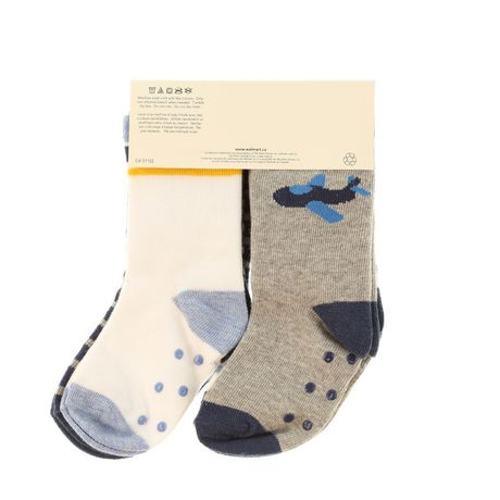 George Infant Boys 4pk Crew Socks with Grippers - image 2 of 2