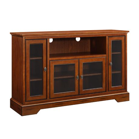 "WE Furniture 52"" Brown Wood Highboy TV Stand - image 5 of 8"