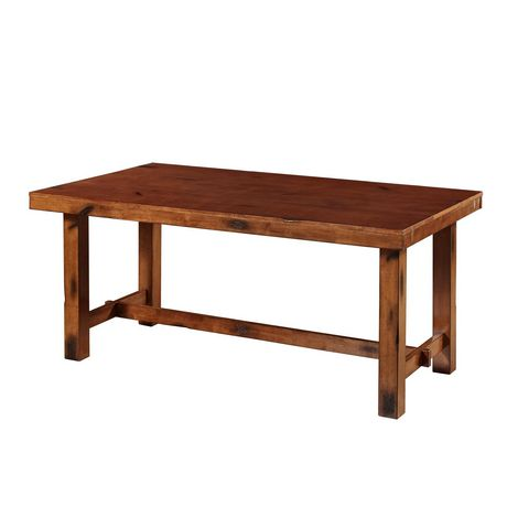 Manor Park 8 Person Farmhouse Expandable Dining Table - Dark Oak - image 6 of 7