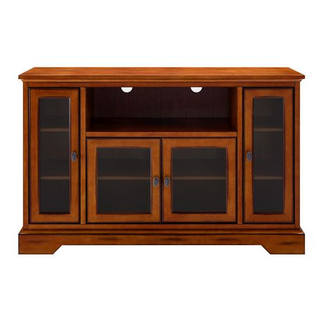 "WE Furniture 52"" Brown Wood Highboy TV Stand - image 6 of 8"