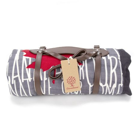 Candiana Typography Oh Canada! Our Native Land Throw Blanket - image 1 of 4