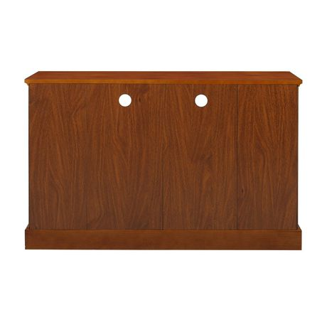 "WE Furniture 52"" Brown Wood Highboy TV Stand - image 7 of 8"