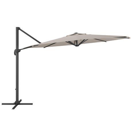 Delightful CorLiving PPU 530 U 11 Ft Deluxe Offset Patio Umbrella In Sand Grey |  Walmart Canada