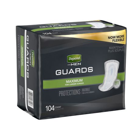 Depend Incontinence Guards for MEN, Maximum Absorbency - image 2 of 2