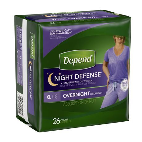 Depend Night Defense Incontinence Overnight Underwear for Women - image 2 of 2