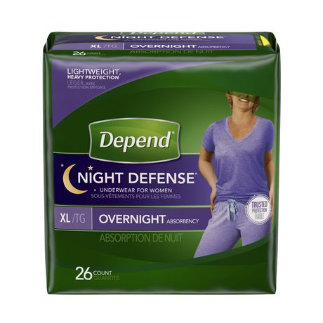 Depend Night Defense Incontinence Overnight Underwear for Women - image 1 of 2