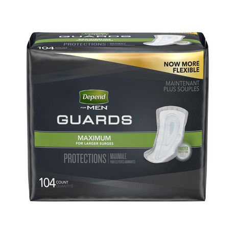 Depend Incontinence Guards for MEN, Maximum Absorbency - image 1 of 2