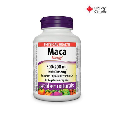 Webber Naturals® Maca with Ginseng, 500/200 mg | Walmart