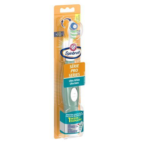 Brosse à dents à piles douce Ultra blanc Série Pro Spinbrush d'ARM & HAMMER - image 3 de 5