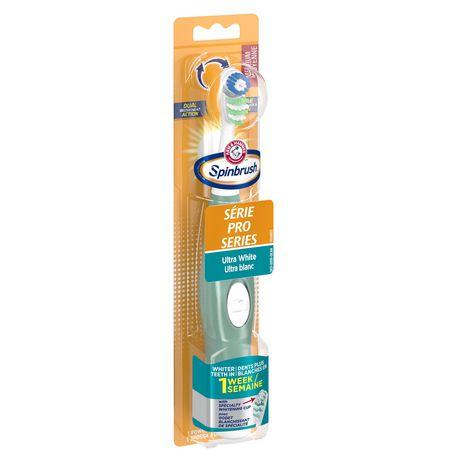 Brosse à dents à piles moyenne Ultra blanc Série Pro Spinbrush d'ARM & HAMMER - image 2 de 5