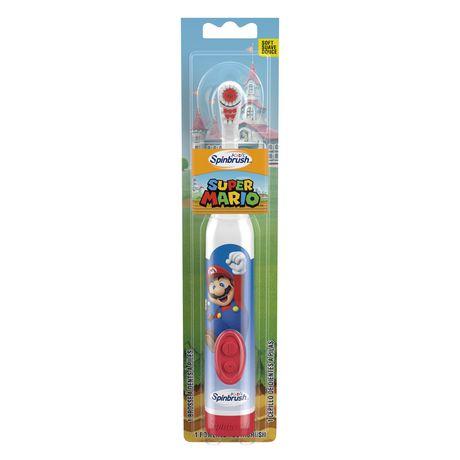 Brosse à dents à piles Kids Spinbrush Super Mario d'ARM & HAMMER - image 1 de 4