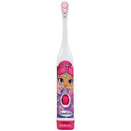 Brosse à dents à piles Kids Spinbrush Shimmer & Shine d'ARM & HAMMER - image 4 de 6