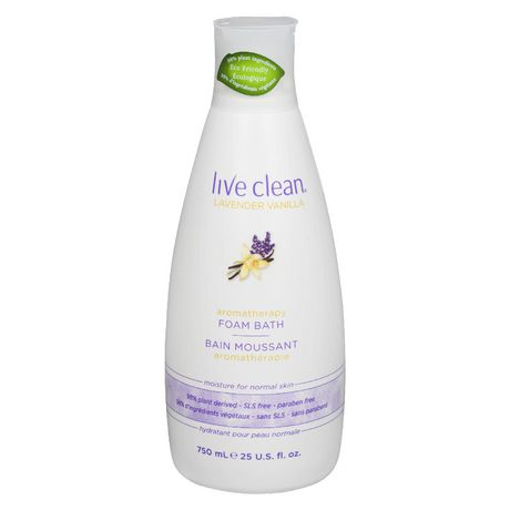 Live Clean Lavender Vanilla Foam Bath by Live Clean