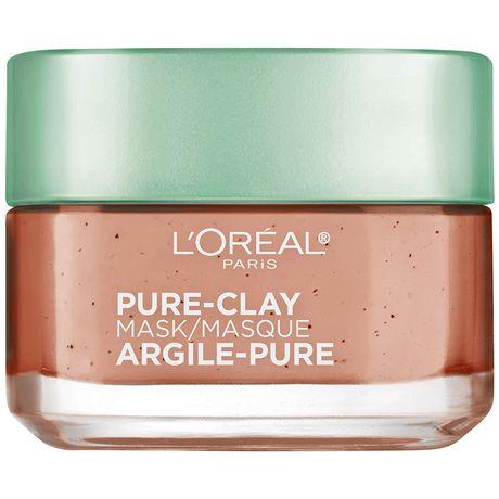L'Oreal Paris Pure-Clay Masque nettoyant avec 3 Argiles Minérales + Algues Rouges pour Peau Rugueuse - image 1 de 7