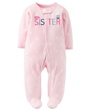 55fc9d1ee Child of Mine made by Carter's Newborn Girls' Little Sister Sleep & Play  Outfit ...
