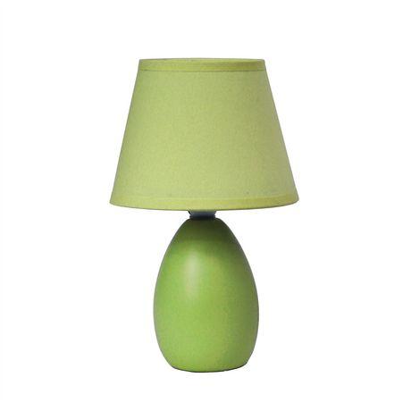 Simple Designs Mini Egg Oval Ceramic Table Lamp - image 1 of 3