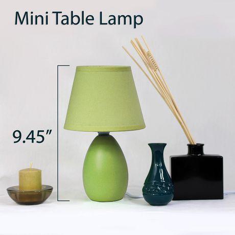 Simple Designs Mini Egg Oval Ceramic Table Lamp - image 2 of 3
