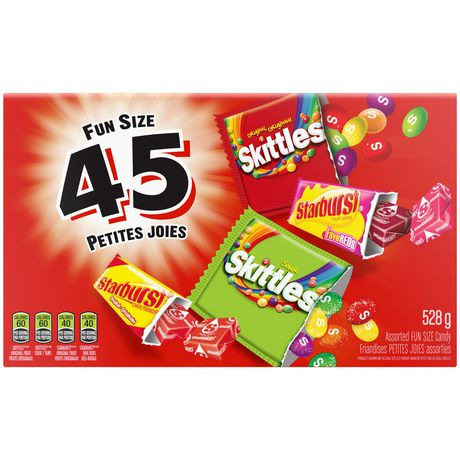 Skittles And Starburst Original, Variety Pack, Fun Size, Halloween, 45 Count - image 1 of 5