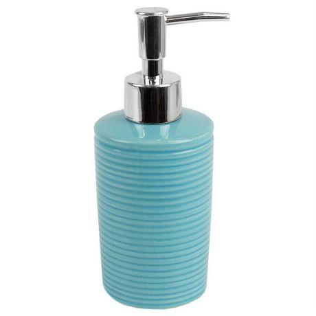 Home Basics Ensemble d'accessoires de bain Horizon, 4 pièces, turquoise - image 3 de 7
