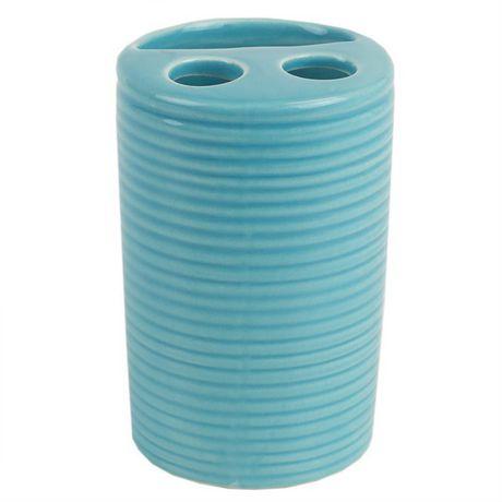 Home Basics Ensemble d'accessoires de bain Horizon, 4 pièces, turquoise - image 4 de 7