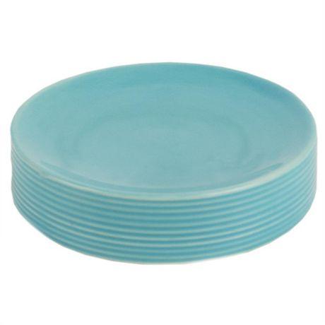 Home Basics Ensemble d'accessoires de bain Horizon, 4 pièces, turquoise - image 5 de 7