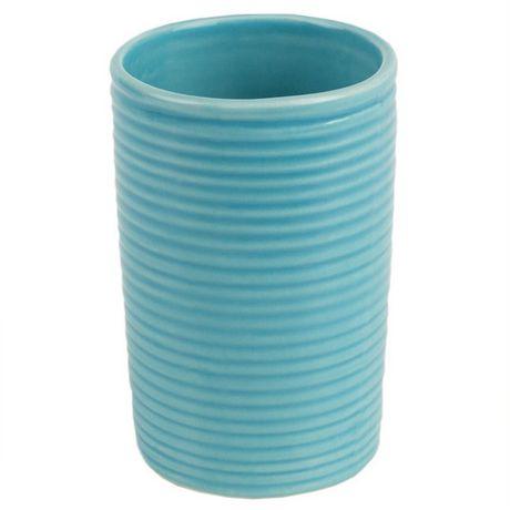 Home Basics Ensemble d'accessoires de bain Horizon, 4 pièces, turquoise - image 6 de 7