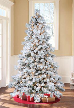 Sapin de saupoudré de blanc Holiday time - image 1 de 5