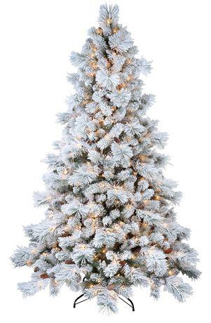 Sapin de saupoudré de blanc Holiday time - image 2 de 5