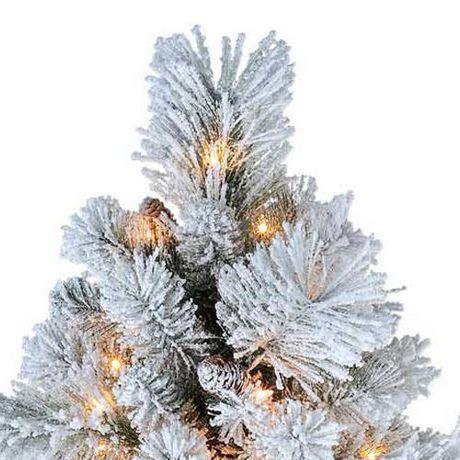 Sapin de saupoudré de blanc Holiday time - image 3 de 5