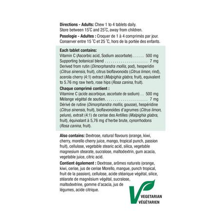 Jamieson Vitamine C à croquer 500mg - 3 saveurs assorties - image 3 de 3