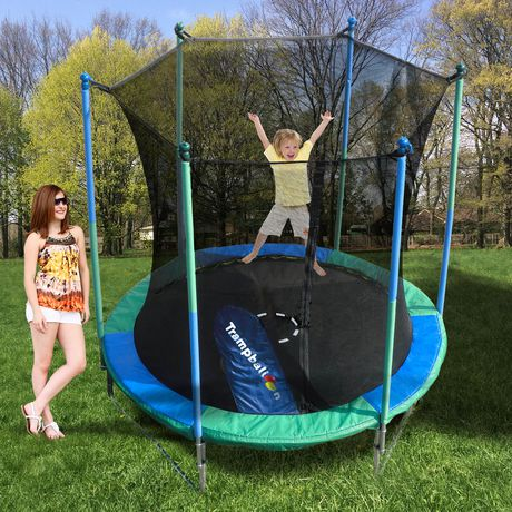 Trainor Sports 8 Trampoline And Enclosure With Trampballoon