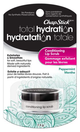 ChapStick Total Hydration (Peppermint Flavour, 1 Blister Pack) Conditioning Lip Scrub, Exfoliates - image 1 of 4