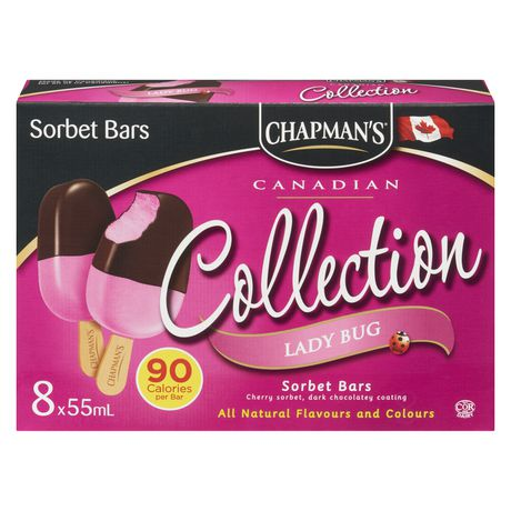 Chapman's Canadian Collection Lady Bug Sorbet bar - image 1 of 4