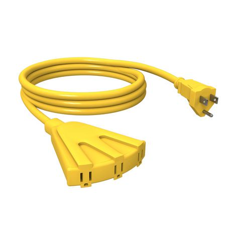 Stanley Power Block 8\' 3-Outlet Grounded Outdoor Extension Cord ...