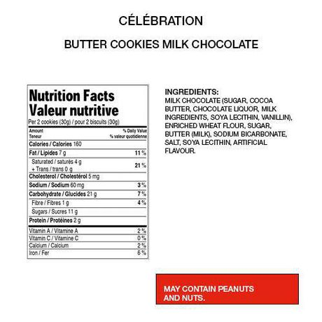 Celebration Milk Chocolate Top Butter Cookies - image 2 of 3
