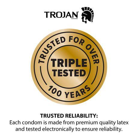 Condoms lubrifiés TROJAN Plaisir pour elle Orgasme intense - image 3 de 6
