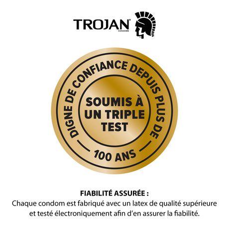 Condoms lubrifiés TROJAN Plaisir pour elle Orgasme intense - image 4 de 6