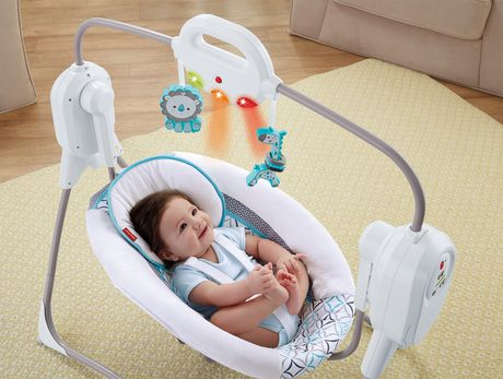 Fisher Price Twinkling Lights Spacesaver Baby Cradle 39 N Swing