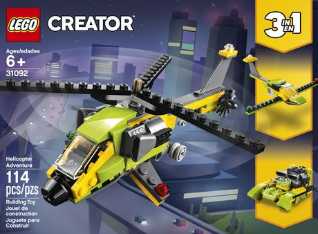 LEGO Creator 3in1 Helicopter Adventure 31092 Building Kit (157 Piece) - image 4 of 5
