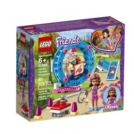 LEGO Friends Olivia's Hamster Playground 41383 Building Kit (81 Piece) - image 1 of 5