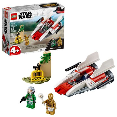 LEGO Star Wars Rebel A-Wing Starfighter 75247 4+ Building Kit (62 Piece)