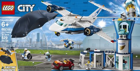 New Release for 2019! 60210 LEGO CITY Sky Police Air Base 529 Pieces Age 6